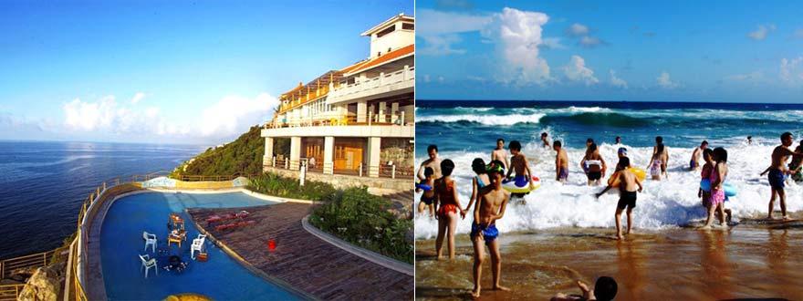 海滨浴场沙滩长700平方米