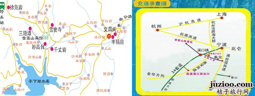 杭州到奉化地图